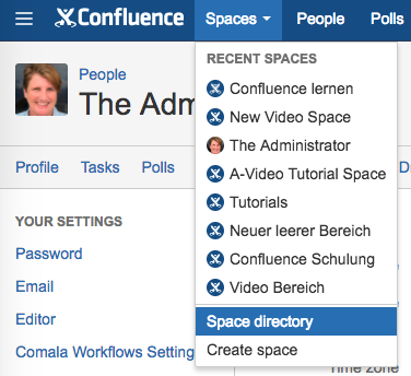 Confluence - how to know who is the space administrator of a space