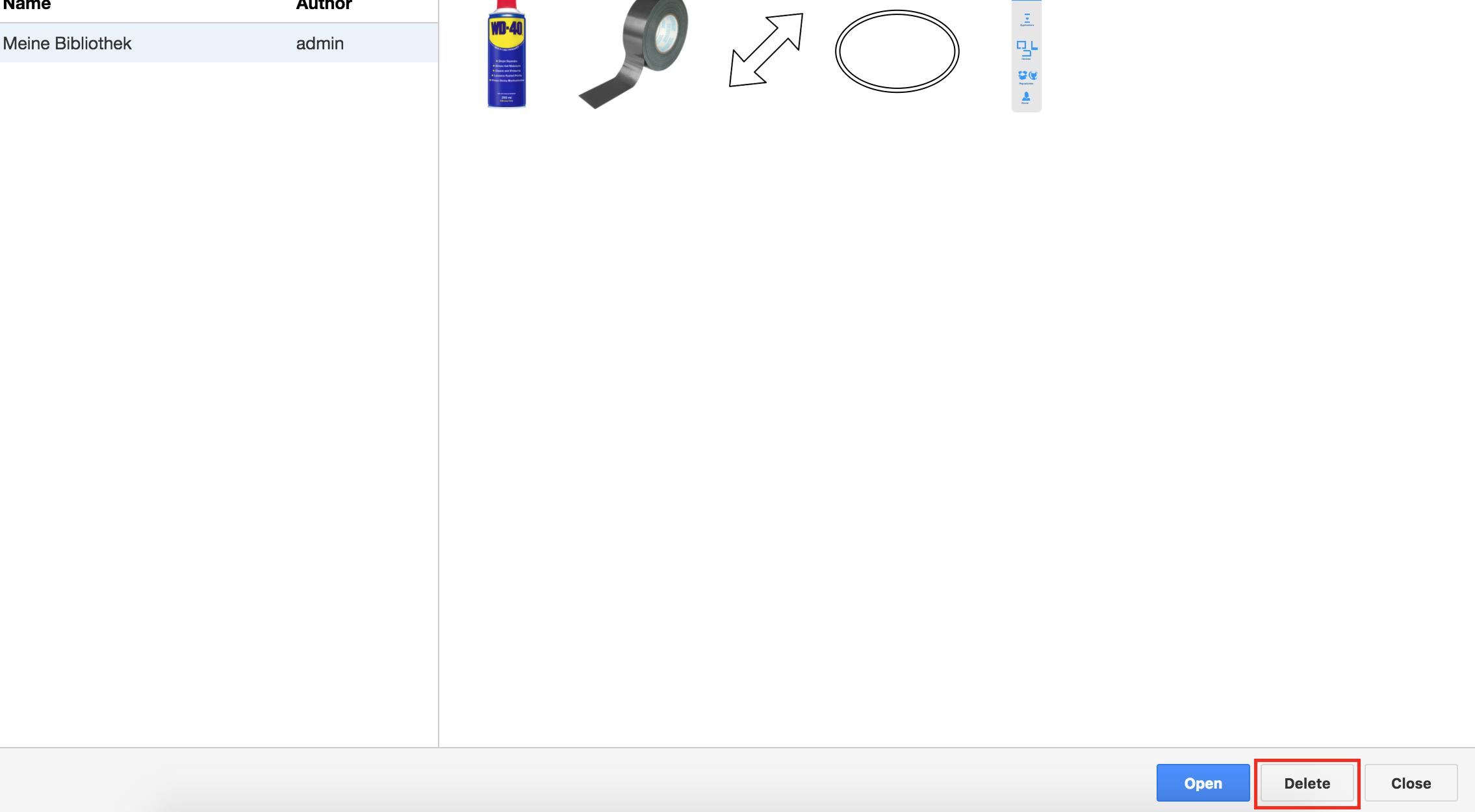 Draw io - How can I delete custom libraries? - draw io